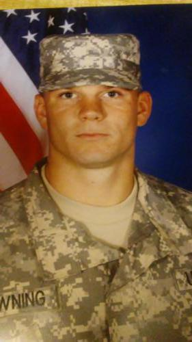 Eric Browning, US Army in Kuwait.